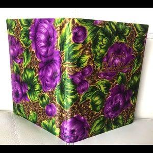Vtg Silk Floral Photo Album Japan Purple Green